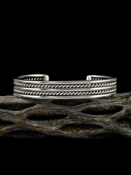 Navajo Sterling Silver Twisted Cuff Bracelet