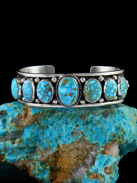 Navajo Jewelry Sterling Silver Sonoran Rose Turquoise Bracelet