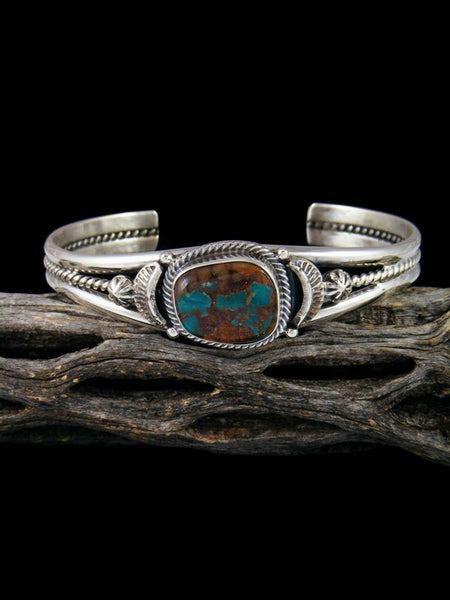 Native American Natural Boulder Turquoise Cuff Bracelet