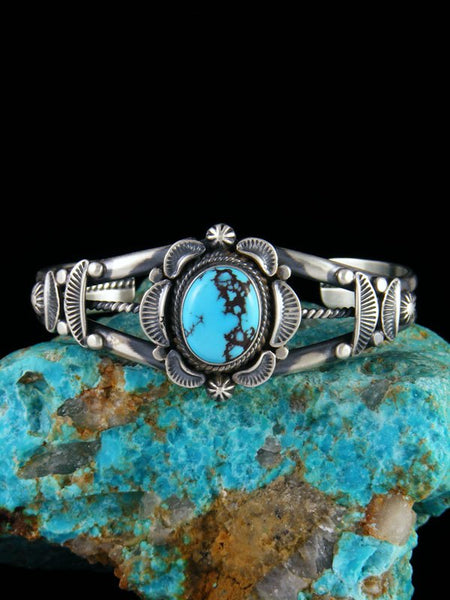 Navajo Egyptian Turquoise Sterling Silver Cuff Bracelet