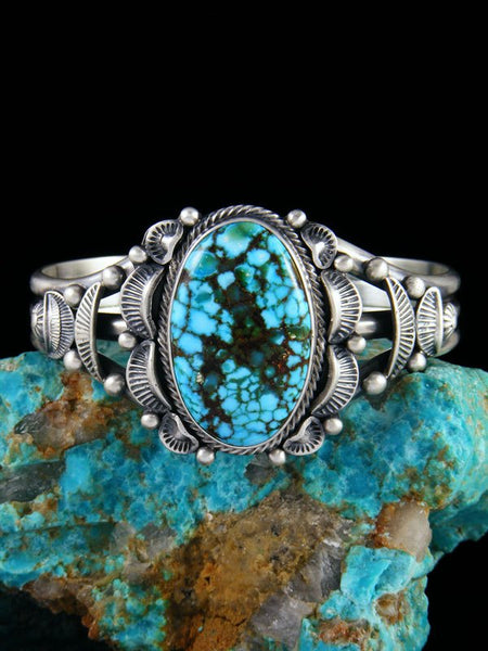 Native American Kingman Red Web Turquoise Bracelet