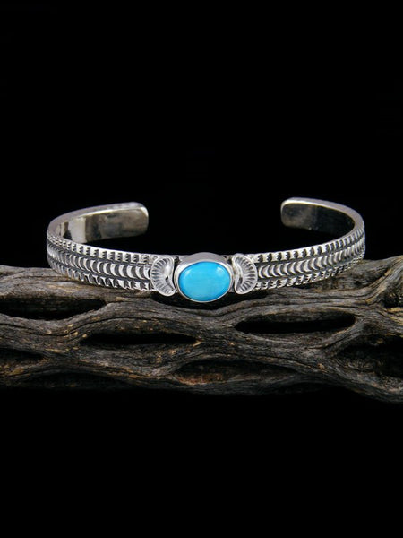 Native American Sterling Silver Turquoise Bracelet