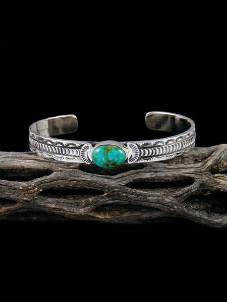 Native American Sterling Silver Sonoran Gold Turquoise Bracelet