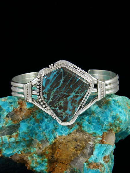 Navajo Sterling Silver Sunnyside Turquoise Cuff Bracelet