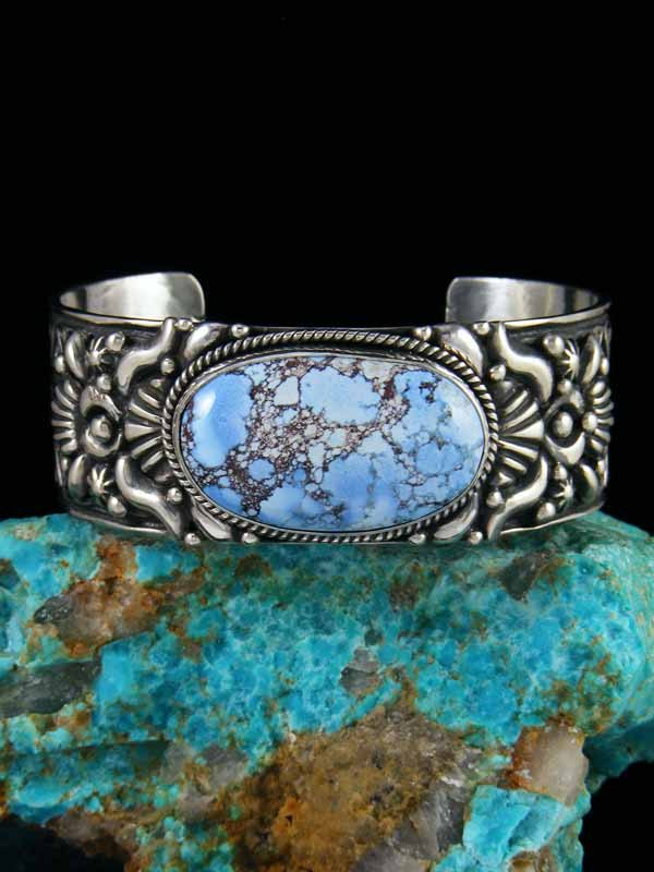 Native American Indian Jewelry Natural Golden Hill Turquoise Cuff Bracelet