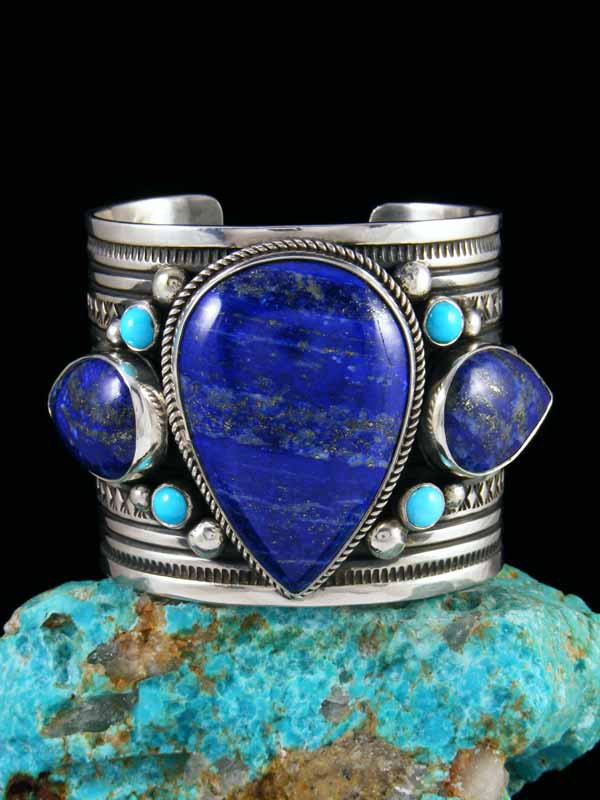 Native American Lapis and Turquoise Bracelet