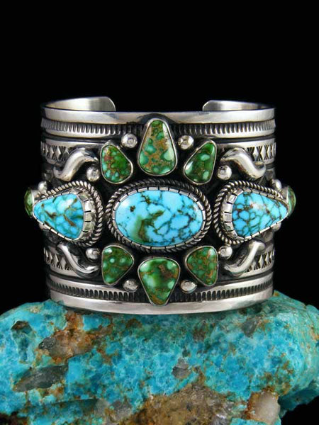 Native American Kingman and Sonoran Gold Turquoise Bracelet