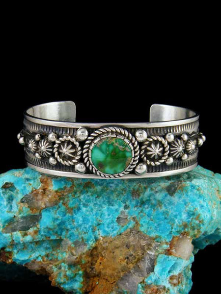 Native American Sonoran Gold Turquoise Bracelet