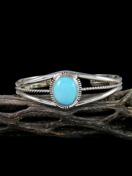 Native American Indian Sleeping Beauty Turquoise Cuff Bracelet