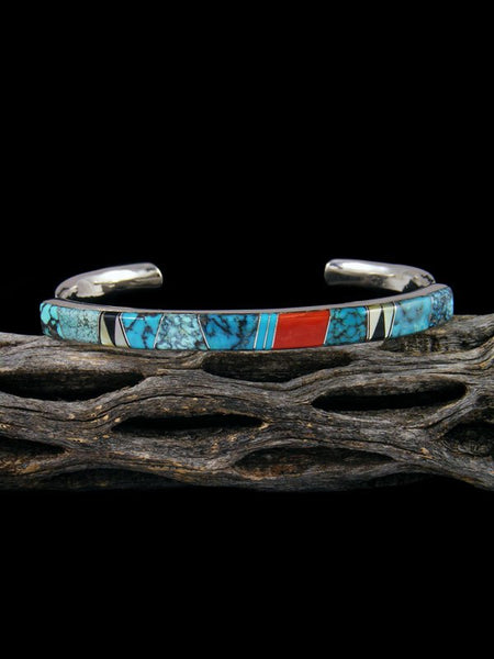 Native American Indian Multistone Inlay Bracelet