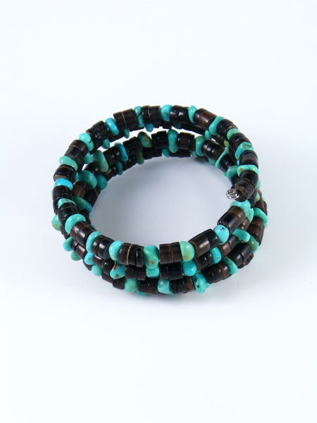 Native American Turquoise and Penn Shell Wrap Bracelet