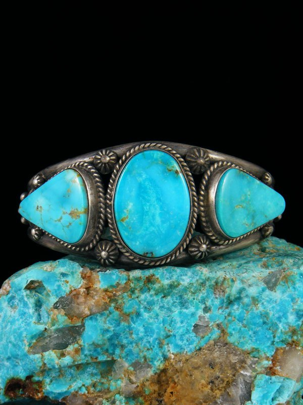 Native American Indian Jewelry Turquoise Cuff Bracelet