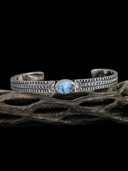 Native American Sterling Silver Golden Hill Turquoise Bracelet