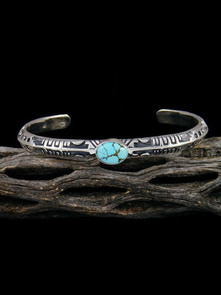 Native American Golden Hill Turquoise Cuff Overlay Bracelet