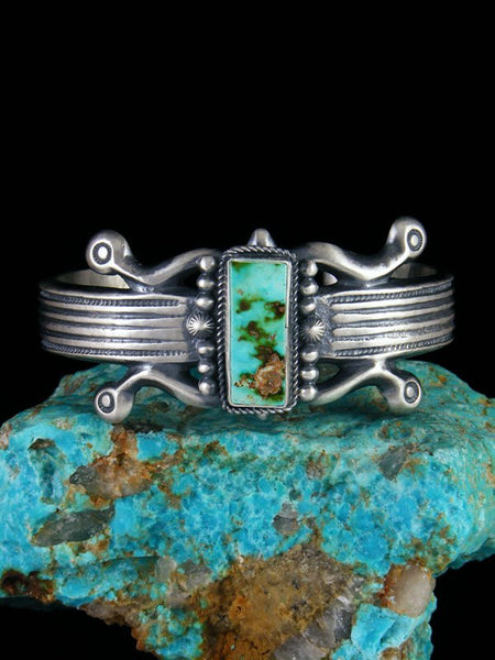 Navajo Royston Turquoise Sterling Silver Cuff Bracelet