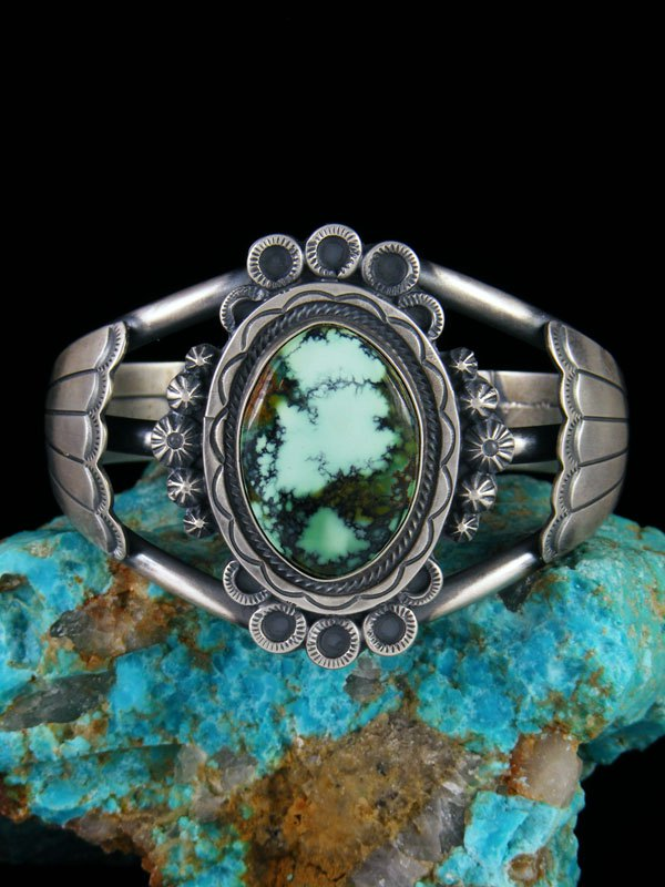 Native American Jewelry Cloud Mountain Turquoise Cuff Bracelet