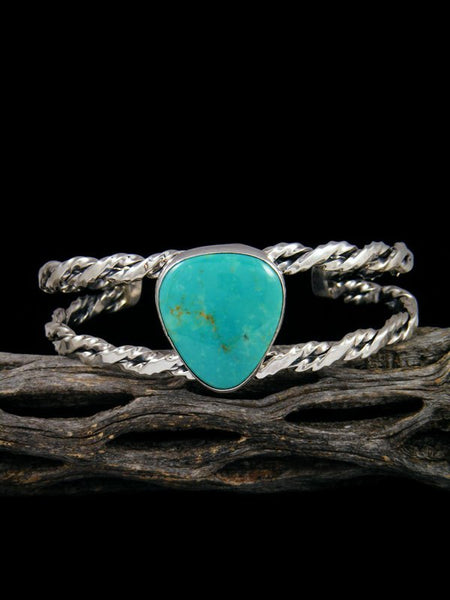 Native American Kingman Turquoise Sterling Silver Bracelet