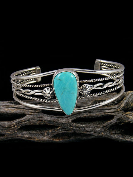 Native American Turquoise Sterling Silver Bracelet