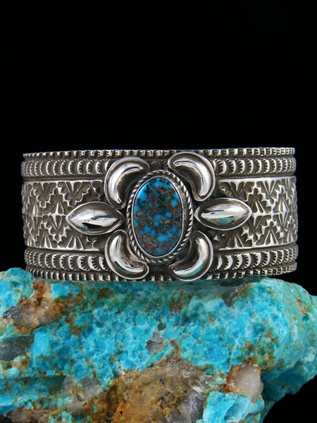 Native American Indian Jewelry Turquoise Sterling Silver Bracelet