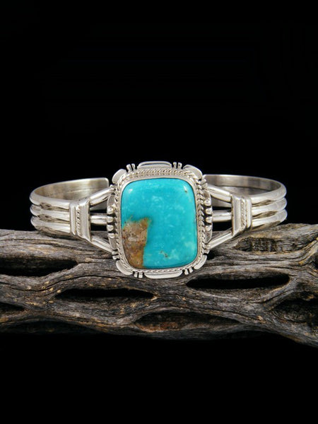 Navajo Arizona South Hill Turquoise Sterling Silver Bracelet