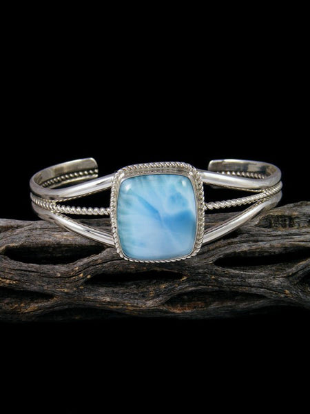 Native American Indian Jewelry Sterling Silver Larimar Bracelet