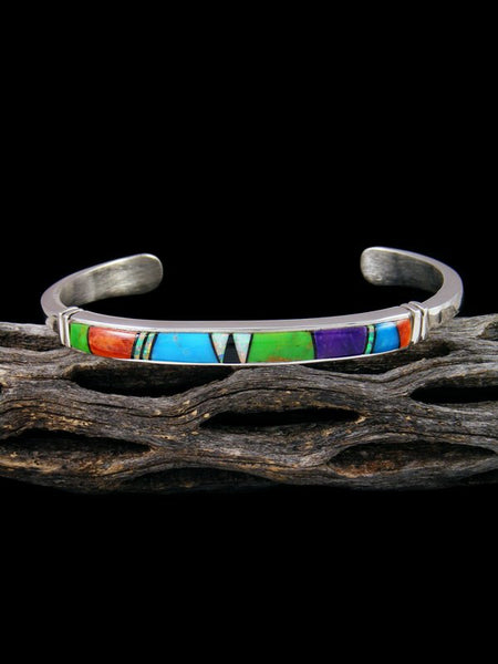 Native American Indian Spiny Oyster and Turquoise Inlay Bracelet