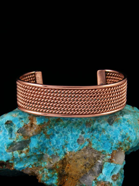 Native American Indian Jewelry Copper Rope Cuff Bracelet