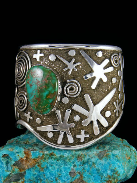 Navajo Sterling Silver Royston Turquoise Cuff Bracelet