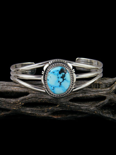 Native American Kingman Turquoise Sterling Silver Cuff Bracelet