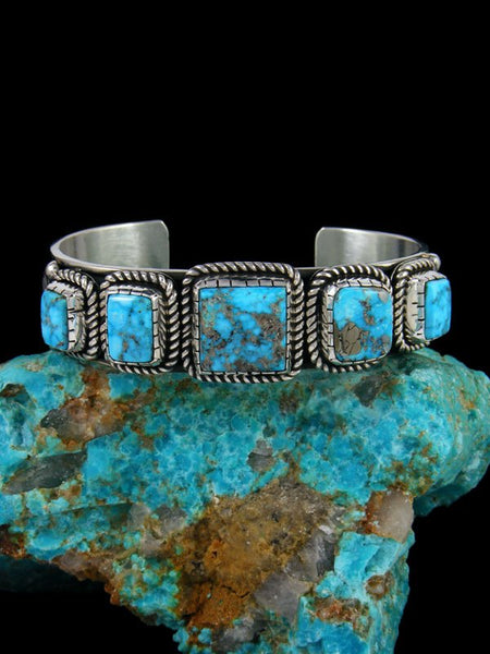 Native American Indian Jewelry Ithaca Peak Turquoise Cuff Bracelet