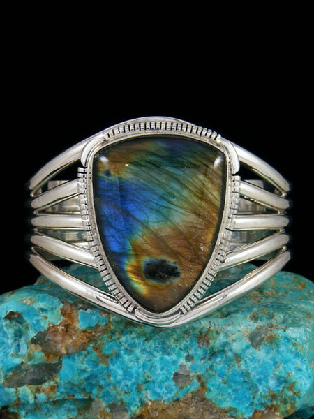 Native American Jewelry Large Labradorite Cuff Bracelet