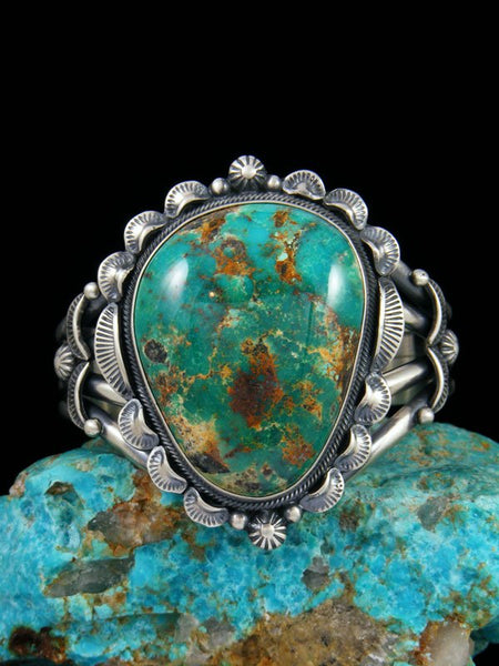 Native American Natural Kingman Turquoise Cuff Bracelet
