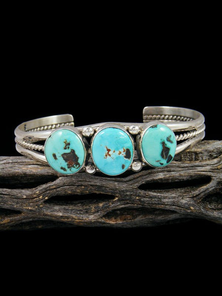 Native American Indian Jewelry Sterling Silver Turquoise Bracelet