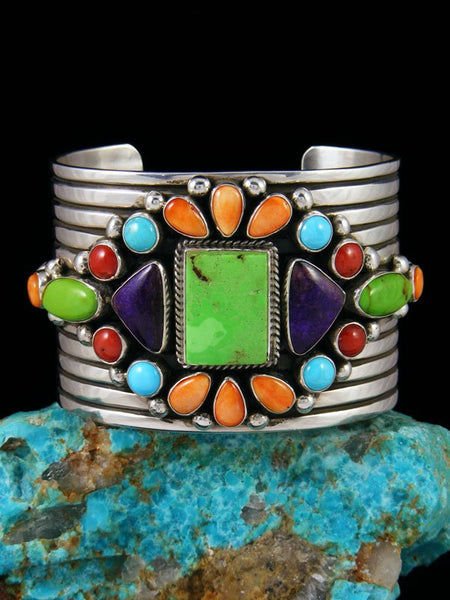Native American Gaspeite and Spiny Oyster Cuff Bracelet