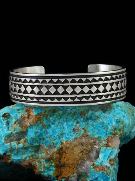 Native American Indian Jewelry Sterling Silver Cuff Bracelet