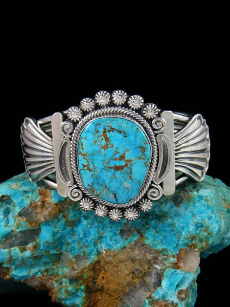 Number Eight Turquoise Sterling Silver Cuff Bracelet