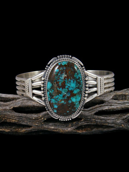 Native American Sterling Silver Sierra Nevada Turquoise Cuff Bracelet