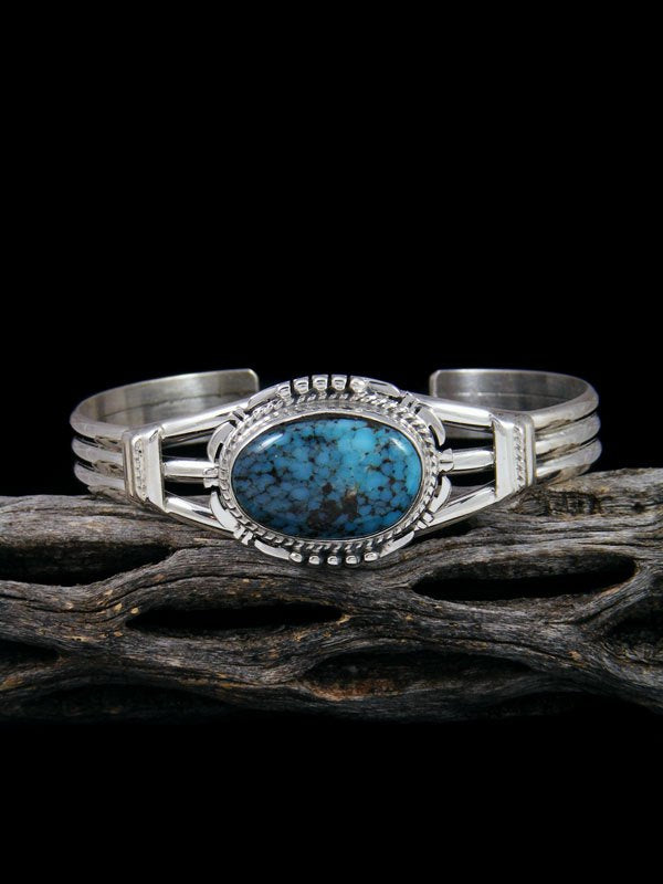 Native American Sterling Silver Boulder Turquoise Cuff Bracelet