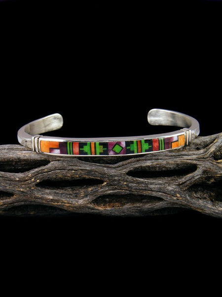 Native American Indian Spiny Oyster Inlay Bracelet