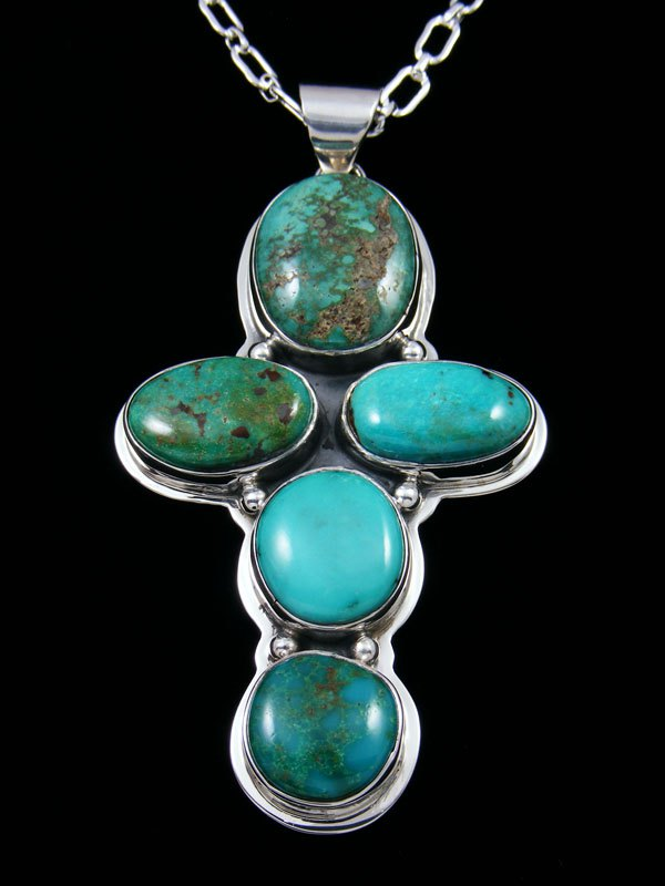Native American Sierra Nevada Turquoise Cross Necklace