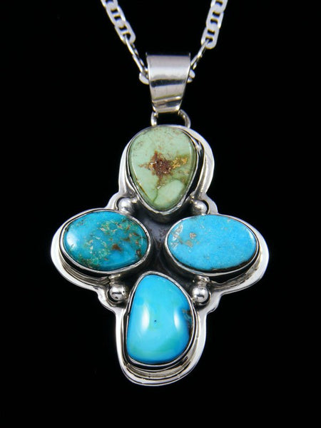 Native American Turquoise Cross Necklace