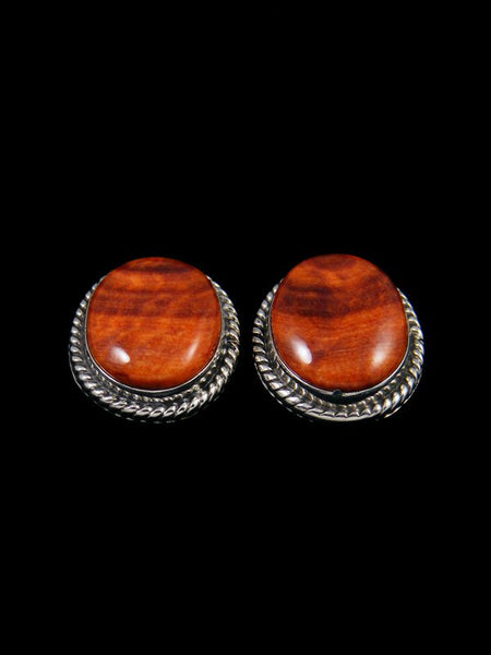 Native American Spiny Oyster Post Earrings