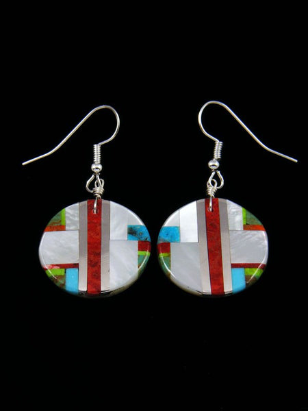 Santo Domingo Inlay Mosaic Dangle Earrings