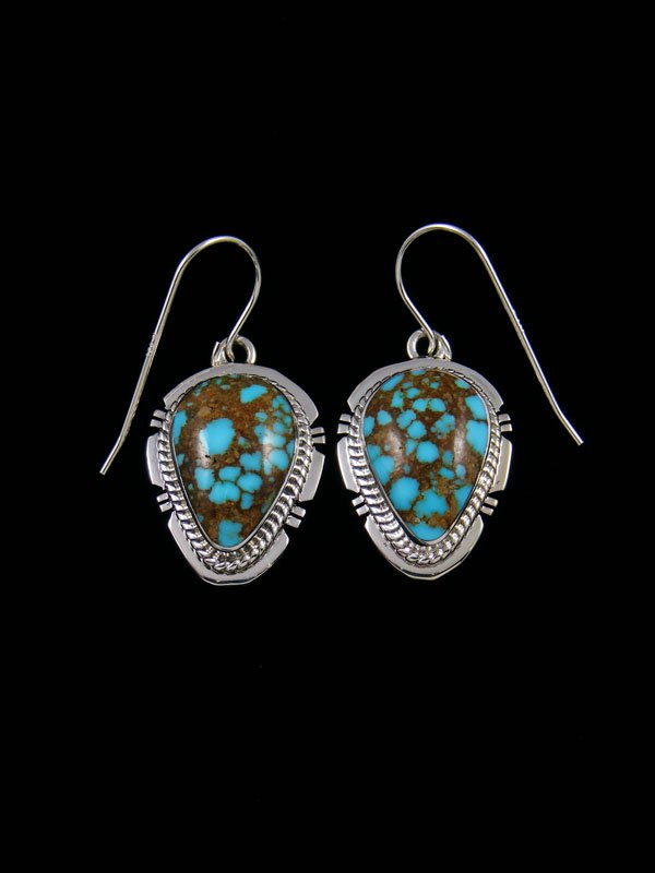 Number Eight Turquoise Dangle Earrings