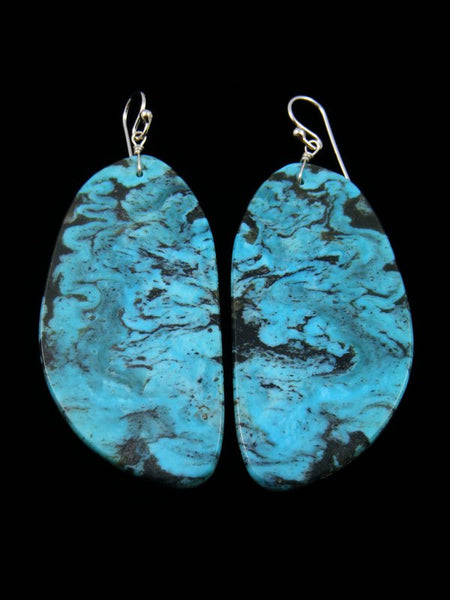 Santo Domingo Turquoise Dangle Earrings