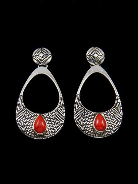 Navajo Jewelry Sterling Spiny Oyster Post Earrings