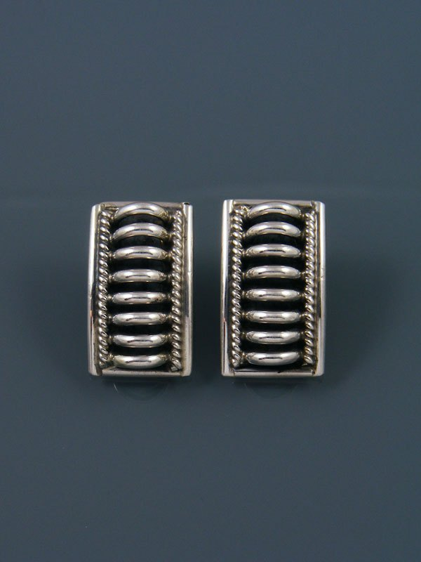 Navajo Sterling Silver Post Earrings