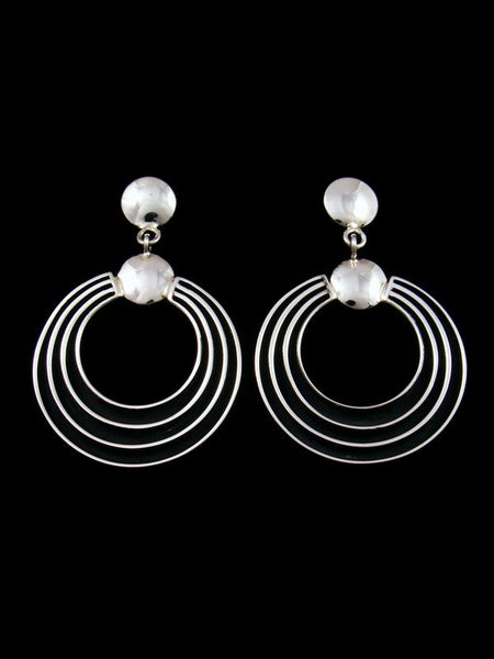 Native American Sterling Silver Post Earrings