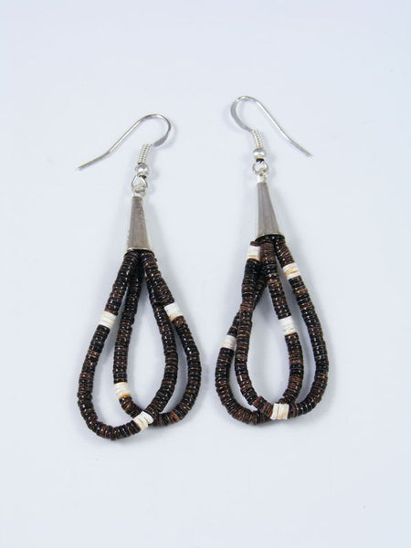 Santo Domingo Shell Heishi Dangle Earrings
