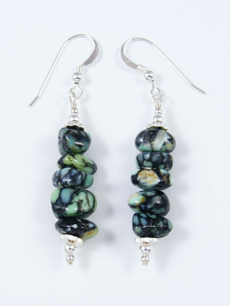 Navajo New Lander Variscite Dangle Earrings